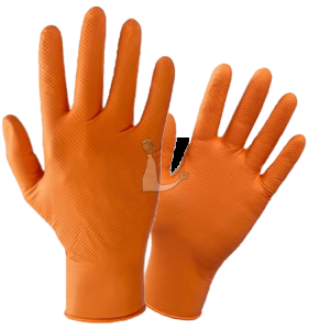 guanti monouso nitrile arancio
